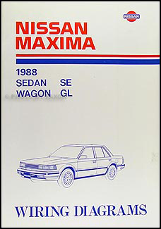1988 Nissan Maxima Wiring Diagram Manual Original