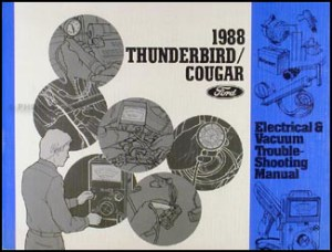 1988 Ford Thunderbird and Mercury Cougar Wiring Diagram