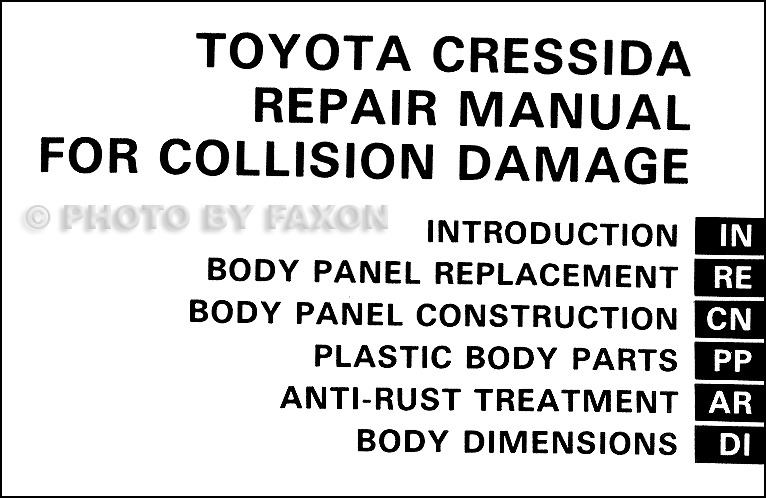 1989-1992 Toyota Cressida Body Collision Repair Shop