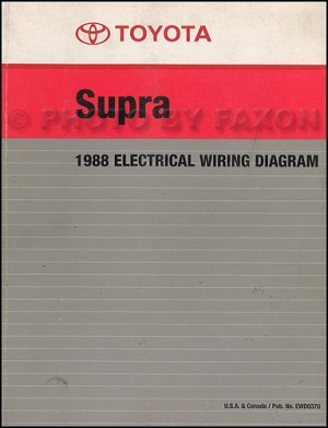 1988 Toyota Supra Wiring Diagram Manual Factory Reprint