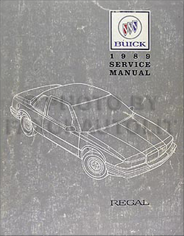 1989 Buick Regal Repair Shop Manual Original