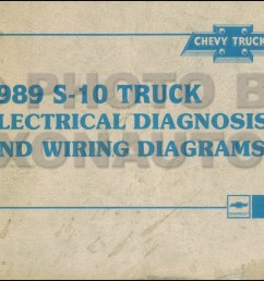 1989 chevy s 10 pickup blazer wiring diagram manual original rh faxonautoliterature com wiring diagram for [ 1283 x 800 Pixel ]