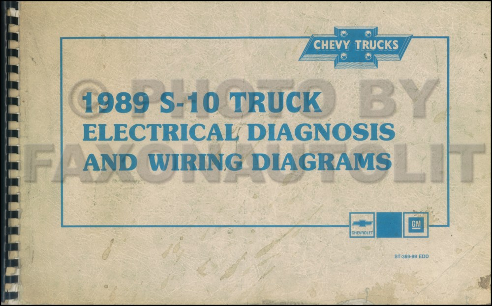 medium resolution of 1989 chevy s 10 pickup blazer wiring diagram manual original 1989s 10 chevy blazer wiring 1989 chevy s 10