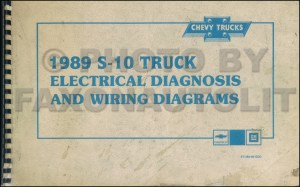 1989 Chevy S10 Pickup & Blazer Wiring Diagram Manual Original