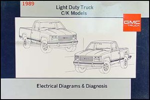 1989 GMC CK Sierra Pickup Truck Wiring Diagram 89 1500
