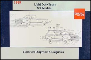 1989 GMC S15 Pickup and Jimmy Wiring Diagram Manual