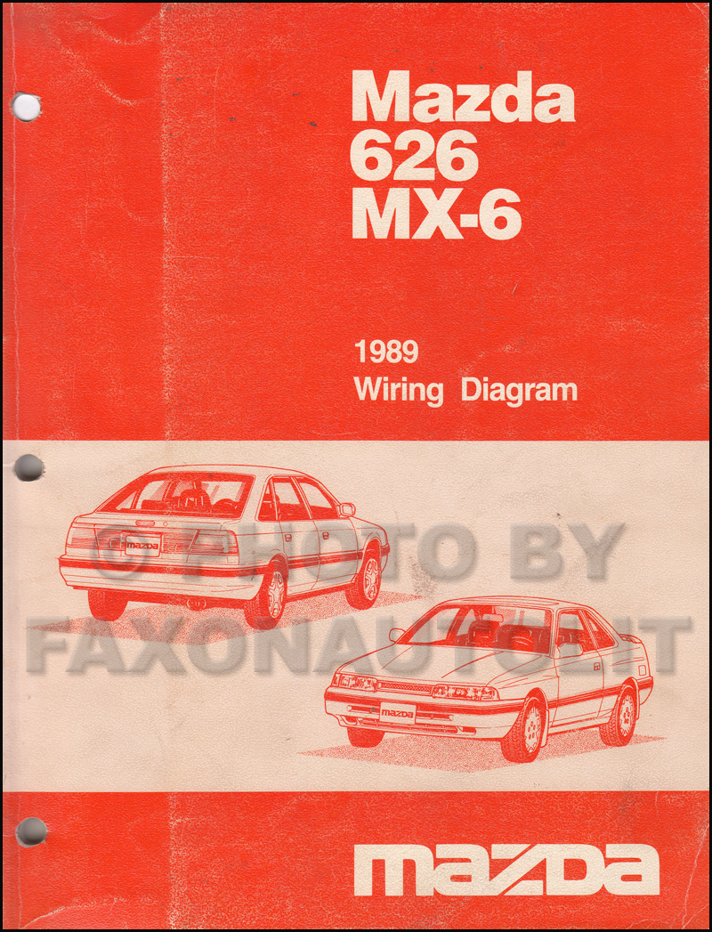 hight resolution of 1989 mazda 626 and mx 6 wiring diagram manual original mazda mx6 wiring diagram mazda mx6 diagram