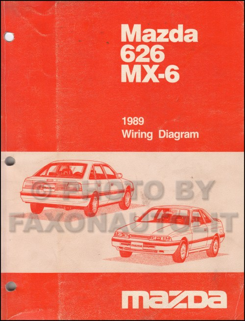 small resolution of 1989 mazda 626 and mx 6 wiring diagram manual original mazda mx6 wiring diagram mazda mx6 diagram