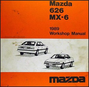 1989 Mazda 626 & MX6 Repair Shop Manual Original