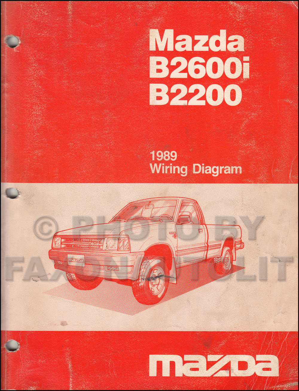 1993 mazda b2600 wiring diagram visual studio uml class best library 1989 b2600i b2200 pickup truck manual original