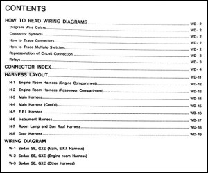 1989 Nissan Maxima Wiring Diagram Manual Original