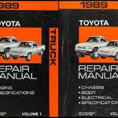 89 Toyota Truck Wiring Diagrams Ignition Switch Diagram 1989 Pickup Repair Shop Manual Original Set