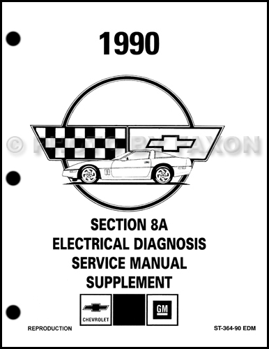 1990 Chevy Corvette Electrical Diagnosis Manual Factory
