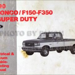 Ford F 350 Engine Diagram 1981 Toyota Corolla Alternator Wiring 1990 Pickup Truck Original Electrical Vacuum Troubleshooting Manual Bronco F150 F250 F350