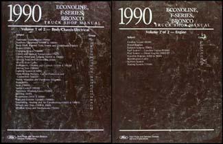 1990 Ford Truck And Van Repair Shop Manual Econoline F150 F250