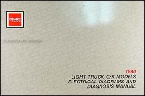 NEW 1990 GMC Sierra Wiring Diagram Manual 90 1500 2500