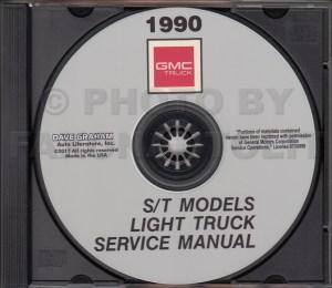 1990 GMC S15 Pickup & Jimmy Wiring Diagram Manual Original