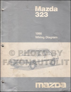 1990 Mazda 323 and Protege Wiring Diagram Manual Original 2WD