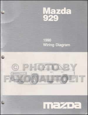 1990 Mazda 929 Wiring Diagram Manual Original