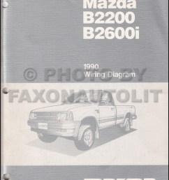 1990 mazda b2600i b2200 pickup truck wiring diagram manual original [ 800 x 1036 Pixel ]