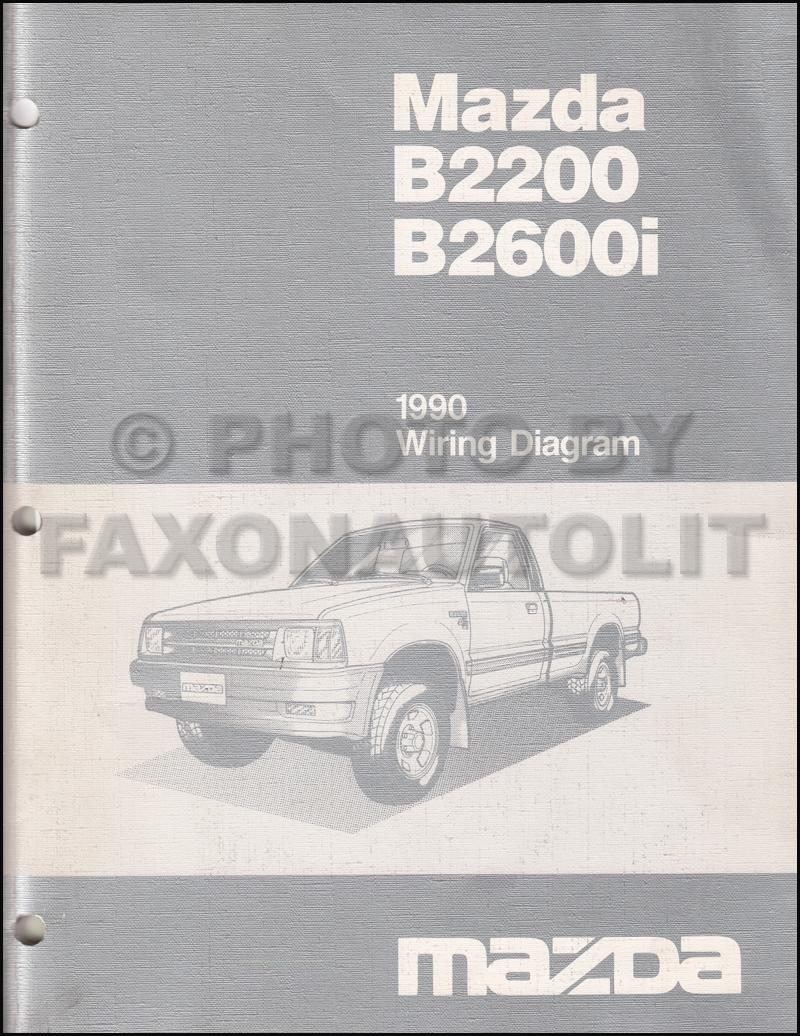 medium resolution of 1990 mazda b2600i b2200 pickup truck wiring diagram manual original