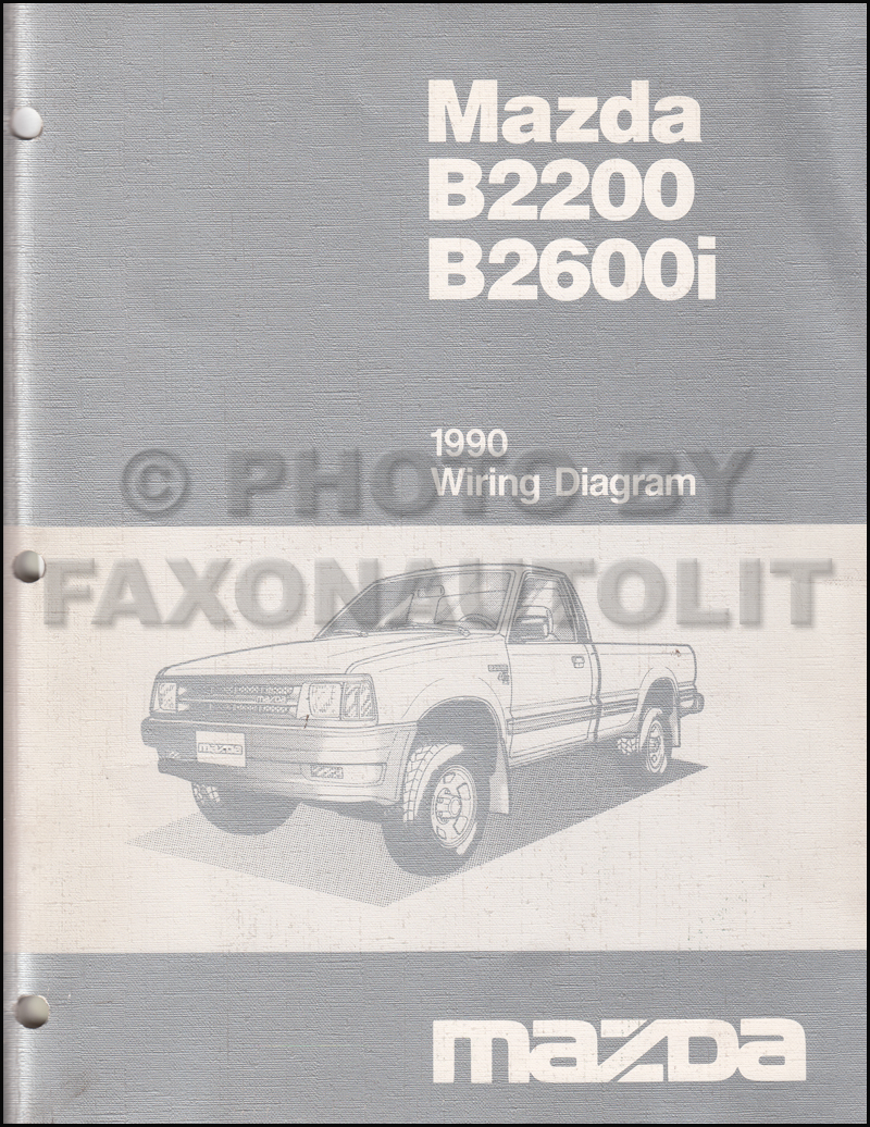 hight resolution of 1990 mazda b2600i b2200 pickup truck wiring diagram manual original