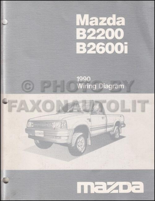 small resolution of 1990 mazda b2600i b2200 pickup truck wiring diagram manual original