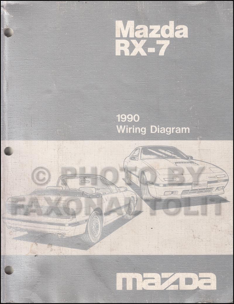 medium resolution of 1990 mazda rx 7 wiring diagram manual original rx7