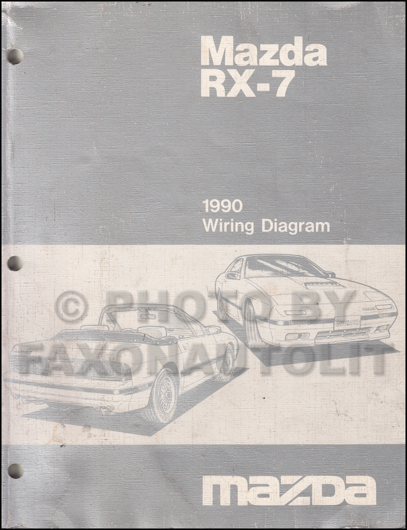 hight resolution of 1990 mazda rx 7 wiring diagram manual original rx7