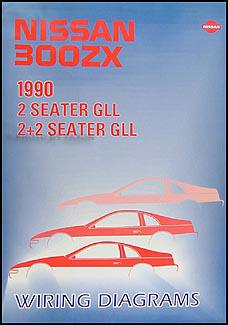 1990 Nissan 300ZX Wiring Diagram Manual Original
