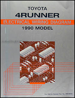 1990 Toyota 4Runner Wiring Diagram Manual Original