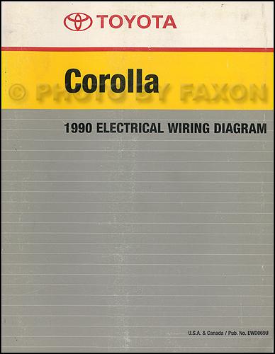 1992 toyota corolla wiring diagram sony model cdx gt24w 1990 manual factory reprint