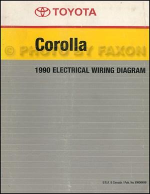 1990 Toyota Corolla Wiring Diagram Manual Factory Reprint