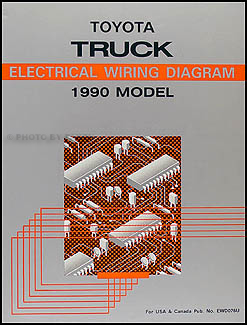 1990 Toyota Pickup Truck Wiring Diagram Manual Original