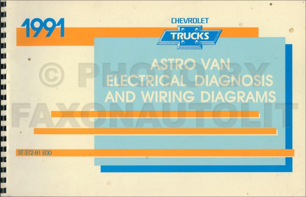 medium resolution of 1991 chevy astro van wiring diagram manual original