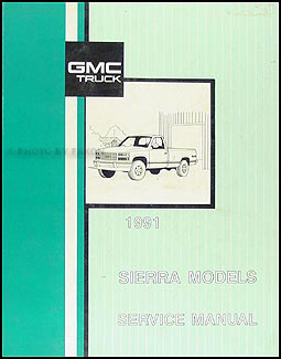 1991 GMC CK Sierra Pickup Wiring Diagram Manual 1500 2500