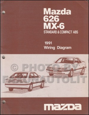early 1991 Mazda 626 MX6 Wiring Diagram Manual Original