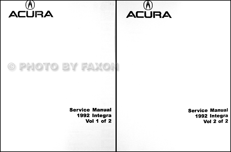 1992 Acura Integra Repair Shop Manual Original