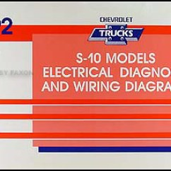 1992 Chevy S10 Stereo Wiring Diagram Honeywell He360 Humidifier Electrical All Data S 10 Pickup Blazer Manual Original Starting For 1991