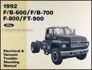 1992 Ford Truck (COWL) Foldout Wiring Diagram F600 F700