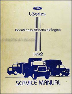 1992 Ford LSeries Foldout Wiring Diagram L8000 L9000