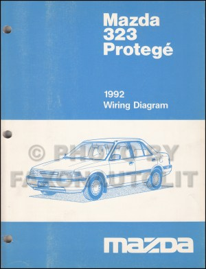 1992 Mazda 323 and Protege Wiring Diagram Manual Original