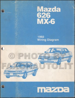 1992 Mazda 626 and MX6 Wiring Diagram Manual Original