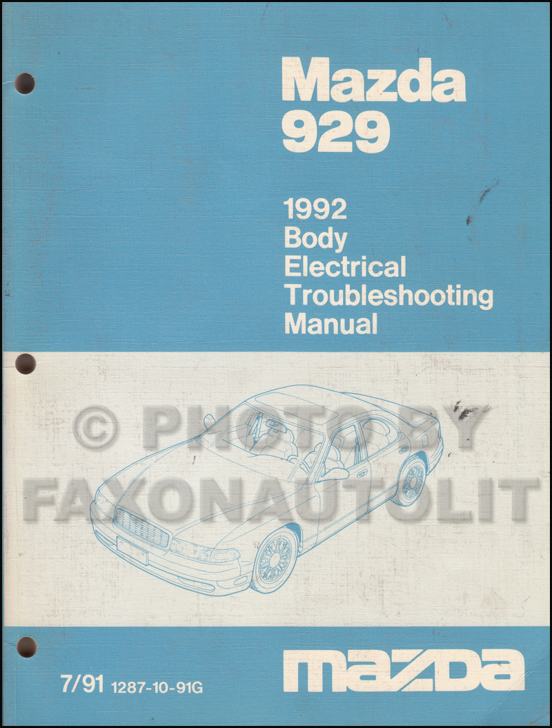medium resolution of 1992 mazda 929 body electrical troubleshooting manual original 2003 mazda miata wiring diagram mazda 929 wiring diagram