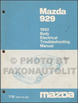 1992 Mazda 929 Repair Shop Manual Original