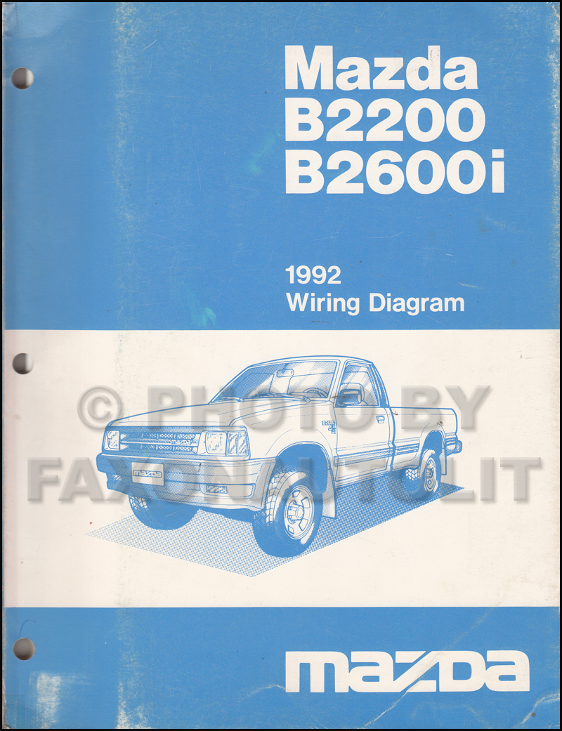 hight resolution of 1992 mazda b2200 b2600i pickup truck wiring diagram manual original rh faxonautoliterature com mazda b2600 radio