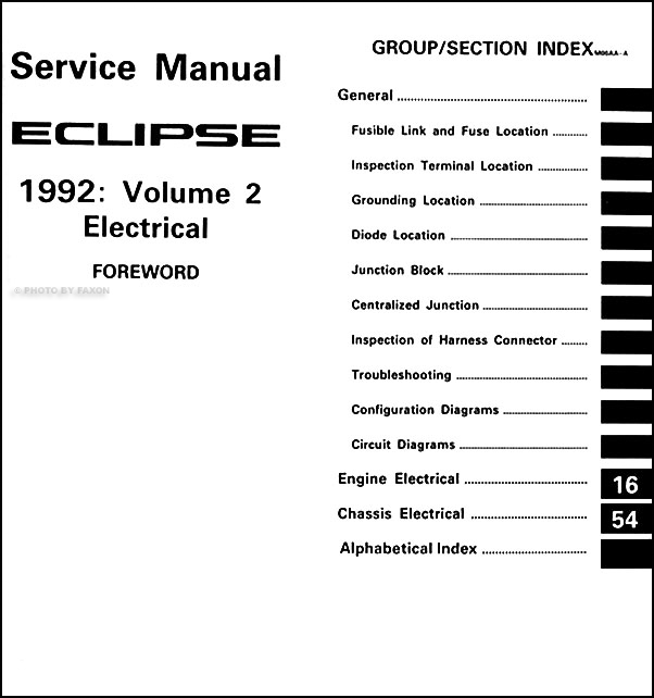 1992 Mitsubishi Eclipse Repair Shop Manual Set Original