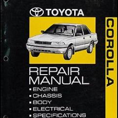 1992 Toyota Corolla Wiring Diagram Lewis Co2 Repair Shop Manual Original
