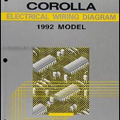 1992 Toyota Corolla Wiring Diagram 12v 100ah Battery Charger Circuit Manual Original