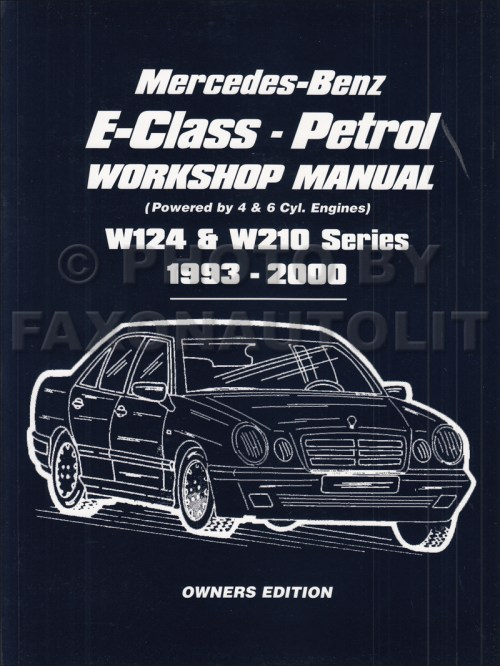 small resolution of 1993 2000 mercedes e class owners workshop manual gas w124 w210 rh faxonautoliterature com mercedes wiring